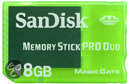 SanDisk Memory Card Pro Duo 8 GB Groen PSP