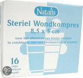 Natalis steriel wondk.8,5x5cm 16 st
