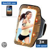 qMust Samsung Galaxy Xcover Sport Armband met led-lampjes (orange)