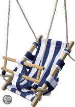 Babyschommel - blauw/wit