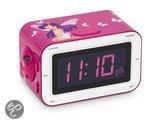 Roze wekker en radio met projectie - Fairy / Elfje