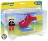 Playmobil 1.2.3. Brandweerhelikopter - 6789