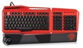Foto van Madcatz S.T.R.I.K.E. 3 Professional Gaming Toetsenbord (US-Layout) Rood PC