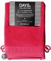 Riverdale Washandjes Days - Fuchsia - Set van 4