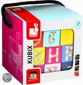 Kubix 26 gekleurde letterblokken maxi