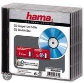 Hama 048434 CD Dubbel Box - Transparant / Zwart