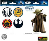 Star Wars muurstickers: STAR WARS Mini Stickers Yoda Symbols