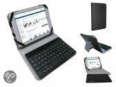 Bluetooth Keyboard voor de Viewsonic Viewpad 7x, Toetsenbord Hoes, Zwart, merk i12Cover