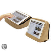 Bosign Tablet Kussen Cotton voor iPad/tablet pc Khaki- met BINNENZAK