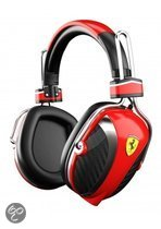 Logic3 Ferrari Scuderia P200 Over-Ear Pitlane Headphones Rood PC + Mac + Mobile
