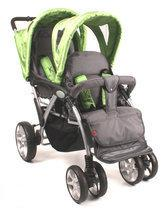KEES - Tandem Luxe Kinderwagen - Groen