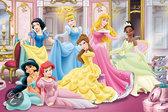 Jumbo Disney Princess Puzzel met Krijtjes - 24 stukjes