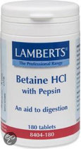 Lamberts Betaine HCL with Pepsin - 180 Tabletten - Voedingssupplement