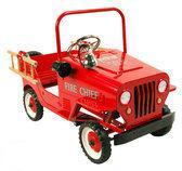 Metalen Trapauto Brandweer Jeep