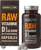 Garden Of Life Raw Vitamine D en Calcium - 60 Capsules - Vitaminen