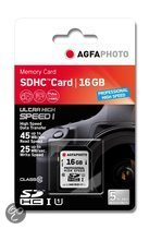 AgfaPhoto Professional high speed SD kaart 16 GB