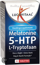 Lucovitaal Melatonine 5-HTP L-Tryptofaan - 30 Tabletten