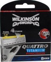 Wilkinson Sword Quattro Titanium Precision - 8 stuks - Scheermesjes