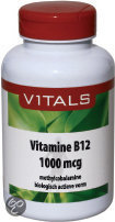 Vitals Vitamine B12 Methylcobalamine 1000 mcg - 100 zuigtabletten