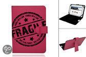 Nextbook Premium 7hd Fragile Print Case, Trendy Hoesje, Kleur Hot Pink, merk i12Cover