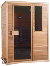 Exclusive Hemlock Four full-spectrum sauna: 150 x 100 x 200 cm