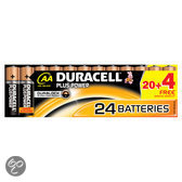 Duracell Plus Power            AA 20er+4