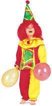 Carnavalskleding Clown kostuum Pino kind Maat 98