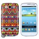 Kleurrijke tribal indianen hoesje Samsung Galaxy S3