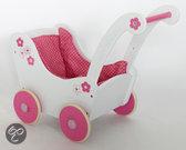 Bayer Houten Poppenwagen - Wit/Roze