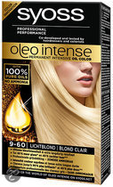 SYOSS Color Oleo Intense 9-60 Licht blond - Haarkleuring