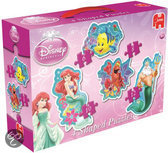 Jumbo Disney Ariel 4 In 1 - Vormenpuzzel - 6,8 10 en 12 stukjes