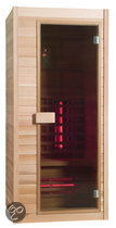 Exclusive Red Ceder One full-spectrum sauna: 90 x 90 x 200 cm