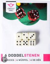 6 dobbelstenen 18 mm op kaart