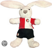 Feyenoord Konijn - Pluche - 32 cm - Wit