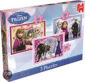Disney Frozen 3 x 50 stukjes - Puzzel