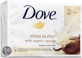 Dove Beauty Cream Bar Shea Butter - 2 stuks - Zeep