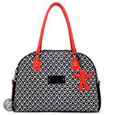 Little Company - Today PopUp Shoulder Bag Round Luiertas - Rood/Zwart