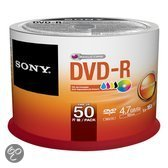 50xDVD-R16x 4.7GB Inkjet Print Spindle