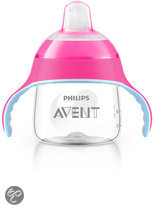 Philips Avent - Beker met drinktuit SCF751/07 - 200 ml - Roze
