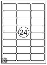 Benza Zelfklevende Etiketten, Stickers A4 Vel - 63,5 x 33,9 mm (24 stickers per vel) - 10 vel