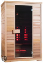 Exclusive Red Ceder Three full-spectrum sauna: 130 x 100 x 200 cm