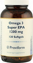 Proviform Omega 3 Super EPA 1200 mg - 120 Softgels - Voedingssupplement