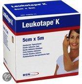 Leukotape K - Elastische Tape - 5 m x 5,0 cm - Huidkleur