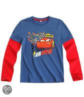 Disney Cars Jongensshirt - Blauw / Rood - Maat 110