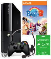 Microsoft Xbox 360 4GB Console + 1 Wireless Controller + Peggle 2 + 1 Maand Xbox Live Gold - Zwart Xbox One Bundel