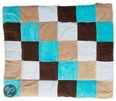 Jollein Colourful Check - Boxkleed - Aqua / Taupe