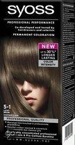 SYOSS Color baseline 5-1 Licht Bruin - Haarkleuring