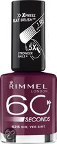 Rimmel 60 Seconds Finish - 625 Misty Purple - Paars - Nagellak