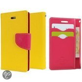 Galaxy Alpha Hoesje Color Fancy Diary Geel/Roze