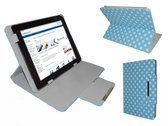 Polkadot Hoes voor de Robotpad V2 10 Inch, Diamond Class Cover met Multi-stand, Blauw, merk i12Cover